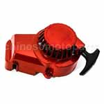 NEW Metal Mini Pocket Bike Pull Start 47cc 49cc Aluminum ATV Recoil Starter Red