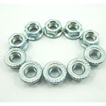8mm FLANGE NUTS (10 PIECES) FOR CHINESE SCOOTERS WITH GY6 150cc & 50cc MOTORS
