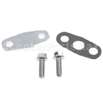 Second Air Injection Block Cover Set for 50cc-150cc Moped and 15