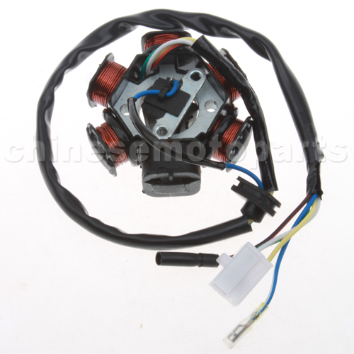 6-Coil Magneto Stator for GY6 50cc Moped & Scooter