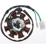 8-Coil DC-Magneto Stator for GY6 50cc ATV, Go Kart, Moped & Scooter
