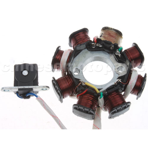 magneto stator gy6 125cc 150cc 8 coil 8 pole 5 wire atvs go kart scooters k079 031 1 12 75