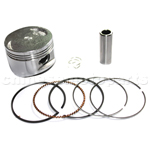 57.4mm PISTON RINGS WRIST PIN CIR CLIPS FOR GY6 150CC SCOOTER MOPED GO KART ATV