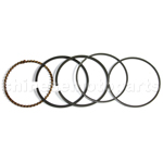Piston Ring Set for GY6 150cc ATV, Go Kart, Moped & Scooter