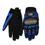 Pro-biker Blue Motorcycle Motorbike Motocross Racing Cycling Full Finger Gloves