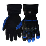 Motorcycle Gloves Winter Warm Waterproof Windproof Protective Gloves Drop resistance Gloves Blue