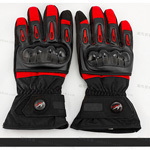 NEW RED PRO-BIKER Stylish Waterproof Warm Full Finger Motorcycle Racing Gloves (Size-M/L/XL)