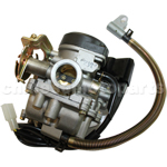 KEIHIN 18mm Carburetor with Acceleration Pump for GY6 50cc Moped.