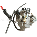 KUNFU 24mm Carburetor for GY6 125cc-150cc ATV, Go Kart, Moped & Scooter.