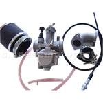28mm Carburetor Assembly with straight valve for Dirt Bike & Motorcycle