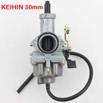 Kehin 30mm PZ30 Cable Choke Carburetor For 125cc 140cc PIT Quad Dirt Bike ATV