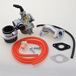PZ19 Lever Choke Carburetor Intake Pipe Air Filter Red Hose Line 50 70 90 110 125CC ATV For TAOT