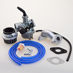 PZ19 Lever Choke Carburetor Air Filter Intake Pipe Blue Fuel Hose Line Tube 50 70 90 110 125CC