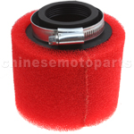 38mm Red Air Filter for ATV, Dirt Bike & Go Kart