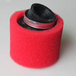 38mm Red Bent Air Filter for ATV, Dirt Bike & Go Kart