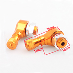 90 Degree Motorcycle Champagne Valve Stems Tire Tyre Pair Honda CBR CB Front Rear
