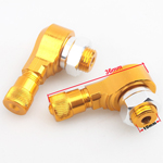 90 Degree CNC Aluminum Wheels Valve Stems for YAMAHA FORCE FRC RSZ JOG Z125 Golden