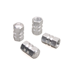 4PCS METAL CAR TRUCK VEHICLE TIRE TYRE AIR DUST VALVE STEMS CAPS SILVER NEW