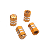 4 PCS GOLDEN YELLOW TIRE TYRE VALVE STEMS CAP FIT FOR VW GOLF JETTA BORA PASSAT