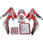 RED MXB DIRT BIKE DECALS STICKERS ROKETA SSR COOLSTER RICARDO BAJA SSR TAOTAO