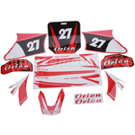 Decals for 50-125 Dirtbike-Red No.27