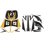 Decals for 50-125 Dirtbike-Yellow
