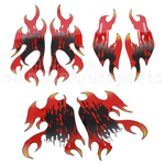 Decals for 150-250 ATV-Red