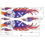 Stars and Stripes Eagle Helmet & Fuel Tank Decal Sticker For BMW R1200LT K1600