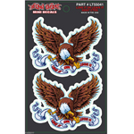 "Lethal Threat Love It Or Leave It Eagle Set of Decals Stickers Size 2.5"" x 2.0"""