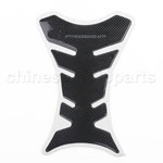 CARBON FIBER LOOK GAS FUEL TANK PAD PROTECT COVER DECAL MOTORCYCLE SCOOTER
